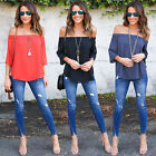 New Fashion Womens Loose Long Sleeve Tops Blouse Shirt Casual T-Shirt