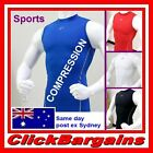 "MEN'S BASE LAYER COMPRESSION SLEEVELESS TOP SPORTS GEAR WEAR SKINS ""TAKE FIVE"" 5"