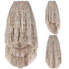 New Fashion Women Gothic Victorian Steampunk Lace Evening Party Club Dance Skirt