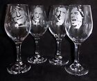 """New Etched """"ROLLING STONES WINE GLASSES"""" - Choose any Band Member"""