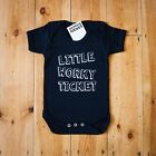 LITTLE WORKY TICKET GEORDIE GENES BABY VEST BLACK BNWT 0-3 3-6 6-12 12-18 MONTHS