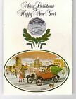 ISLE OF MAN - 50 PENCE SILVER PROOF COIN 1983 YEAR KM#107a CHRISTMAS FORD CARD