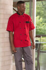 Uncommon Threads Chef Jacket Coat BRISTOL 0423 color Red  sizes X-Small to 2XL