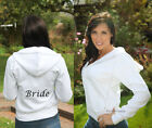 PERSONALISED BRIDE, ANY TEXT, WEDDING PARTY WHITE HOODIE. Great price!