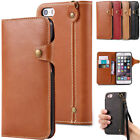 Classsic Buckle Leather Card Holder Wallet Flip Case Cover For Iphone7 7 Plus 6S