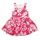 Toddler Baby Girl Kid Floral Bowknot Sleeveless Dress Party Birthday Skirt