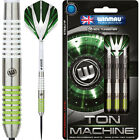 Winmau Ton Machine Darts - Classic Twin Ring - White & Green