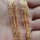 """Wholesale Men Jewelry 18K Yellow Gold Filled 2MM Figaro Chain Necklaces 16""""-30"""""""