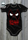 DEADPOOL Baby Grow Body Suit Vest (BABY NEEDS TO EXPRESS SOME RAGE) GIFT COSPLAY