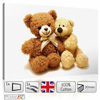 LARGE TEDDY BEAR NURSERY CHILDREN BABY KIDS BEDROOM CANVAS WALL ART PICTURES