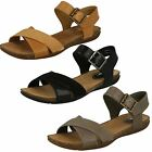 Ladies Clarks Autumn Air Casual Leather Two Part Sandals D Fitting