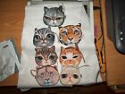 3 Different Cat Face Coin Purses~Lined and Fuzzy~Lion/Tiger/Persian~Adorable!!!