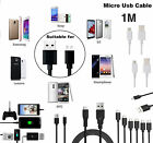 1M MICRO USB Cable Charger Sync Data Wire Lead For All Micro USB Ports Phones