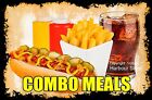 DECAL (Choose Your Size) Hot Dog Combo Meals Food Sticker Restaurant Concession