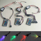 24key remote RGB DC12V 2W Car Side Glow Fiber Optic LED Light illuminator Engine