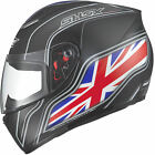 Shox Axxis Identity UK Matt Black Motorcycle Helmet Motorcycle Full Face Lid