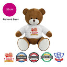 Personalised Name Fathers Day Richard Teddy Bear Presents Gifts for Dad Grandad