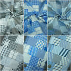 100% Cotton Fabric Patchwork Check Print Quilting Crafting Material
