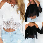 New Women Summer Long Sleeve Off Shoulder Blouse Ladies Casual Tops T Shirt  Hot
