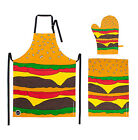Woouf Kitchen Set - Apron, Mitt + Tea towel - Burger