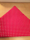 Red Polka Dot with SMALL White Spots Dog Pet Bandana Scarf  XS S M L XL Free P&P