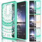 For ZTE Zmax Pro Z981 Armor Shockproof TPU Hybrid PC Crystal Hard Case Cover