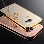 Luxury Aluminum Ultra-thin Mirror Metal Case Cover for Samsung Galaxy S7 S8 Edge