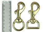 """3/4"""" OR 19MM BRASS SWIVEL TRIGGER HOOKS SNAP CLIPS DOG LEAD REPLACEMENT STRONG"""