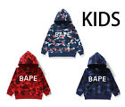 A BATHING APE BAPE KIDS COLOR CAMO PULLOVER HOODIE 3colors From Japan New