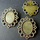 1 &10 BRONZE TONE CAMEO FRAME SETTING BROOCHES 43mm x 37mm - Fit 25 x18mm Cameo