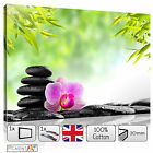CANVAS Pictures Prints - ZEN Calming Orchid Black Stones Wall Art READY to Hang