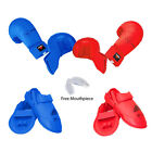 Adidas martial arts protective gear - New adidas Karate Sparring Gear BASIC Set Hand, Foot Guard & Mouthpiece-RED,BLUE