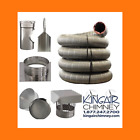 "CHIMNEY LINER T KIT 8"" x 30' STAINLESS STEEL w/ CAP EASY INSTALL MADE IN U.S.A."