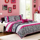 Pink Black & White Polka Dots Damask Coverlet Quilt Set A...