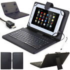 "US Gift For 10"" 10.1 inch Tablet Pattern Leather Case Cover Micro USB Keyboard W"