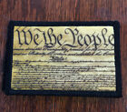 We The People Morale Patch Military 2A III Tactical ARMY Hook Military USA Badge