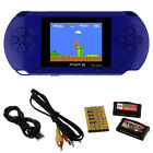 US PXP3 Handheld Game Console Video Games 16 Bit Retro Games + 2 Cards For Kids