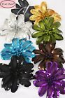 large silk flower hair clip with sequins