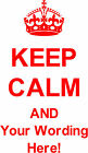 Keep Calm &...Wall Art / Quotes, Bedroom Stickers, Wall Decal, Vinyl graphic