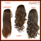 3/4 WIG #6-30 BROWN/ AUBURN TIPS Wavy Straight Curly Clip in Hair Piece