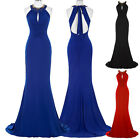 New Long Bridesmaid Prom Ball Gown Formal Evening Party Wedding Maxi Dress 4-18