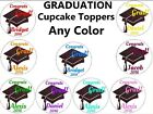 GRADUATION CUPCAKE toppers Edible image Decoration ANY COLOR party 2017 favor