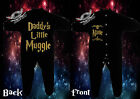 HARRY POTTER Baby Playsuit Bodysuit SleepSuit DADDY'S LITTLE MUGGLE(ADD A NAME)