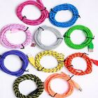 1m/2m/3m Braided Lightning Sync Data Cable Usb Charger For Iphone 5c 5s 7 6plus