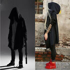 Punk Gothic Unisex Fashion Retro Long Jacket Coat Fleece Lined Hoodie