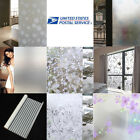 Frosted Privacy 3D Flower Window Glass Film Sticker Bedroom Bathroom Waterproof
