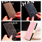 Leather Glitter Bling Flip Magnetic Diamond Wallet Case Cover For Samsung/iPhone