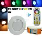 2.4G Milight Wireless Dimmable 6W RGBWW RGB+WW+CW CCT LED Downlight+ RF Remote