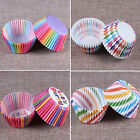 Fab 100pcs Rainbow Paper Cake Cupcake Liners Baking Muffin Cup Case Party