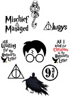 HARRY POTTER QUOTES DEATHLY HALLOWS WALL STICKER DECAL lot HPS